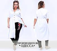 Женские брюки с аппликацией-вышивкой
