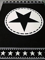 Ковёр Kolibri звезда в круге - черный 1.33х1.90 м.
