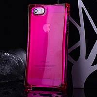 "Чехол ""ICE CUBE"" для iPhone 4/4S, малиновый (силикон)"