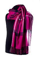Клетчатий шарф для женщин розового цвета
