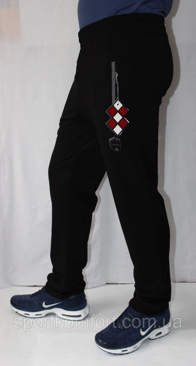 Спортивные штаны мужские TOMMY LIFE  трикотажные черные.
