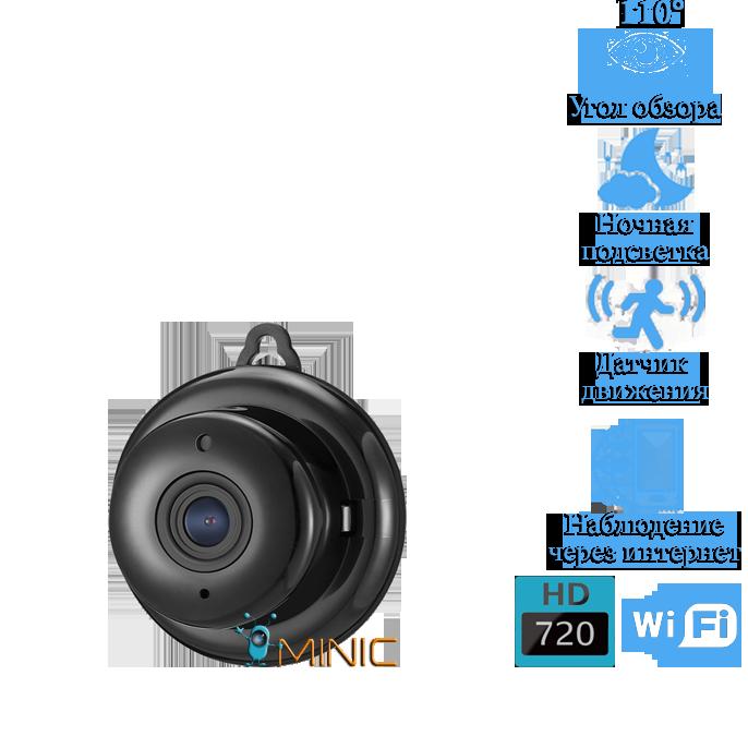 Wi-FI мини камера Digoo DG-MYQ 720P IP камера с записью в облако