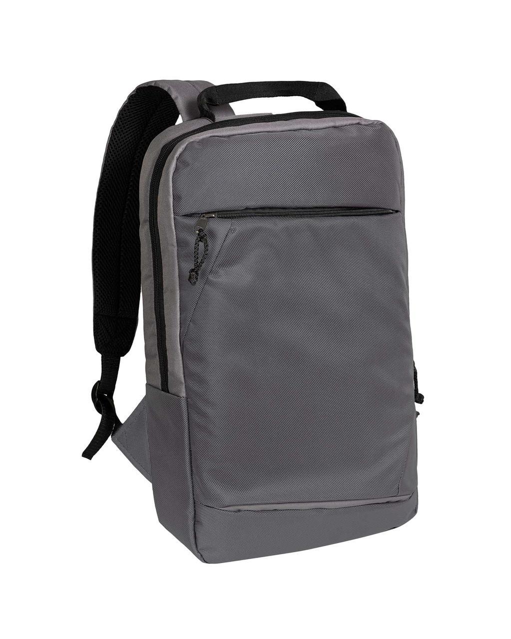 Городской рюкзак для ноутбука серый Surikat 18л. (мужские рюкзаки, жен