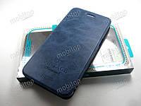 Кожаный чехол книжка MOFI Vintage OnePlus 5 (синий), фото 1