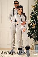 Теплые серые костюмы для пары, фото 1