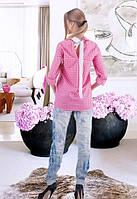 Универсальная рубашка в розовую клетку
