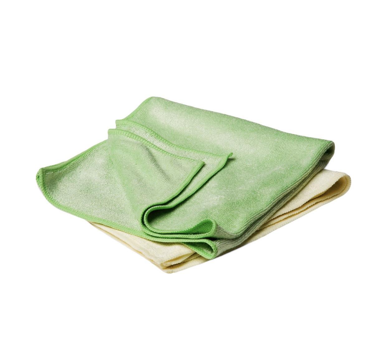 40531 Полотенце микрофибровое универсальное 40х40 см, зеленое и желтое - Flexipads BUFFING