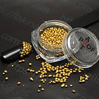 Камни кварц для ногтей Синджу, золото, S-01