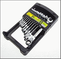 Alloid. Набор ключей комб. трещот.с карданом 11 пр., 8-19 мм.