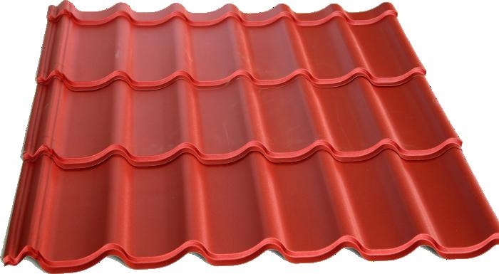 Металлочерепица Монтеррей глянцевая покраска 0,4 мм
