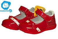 Детские красивые красные туфли D 605,р 20-25