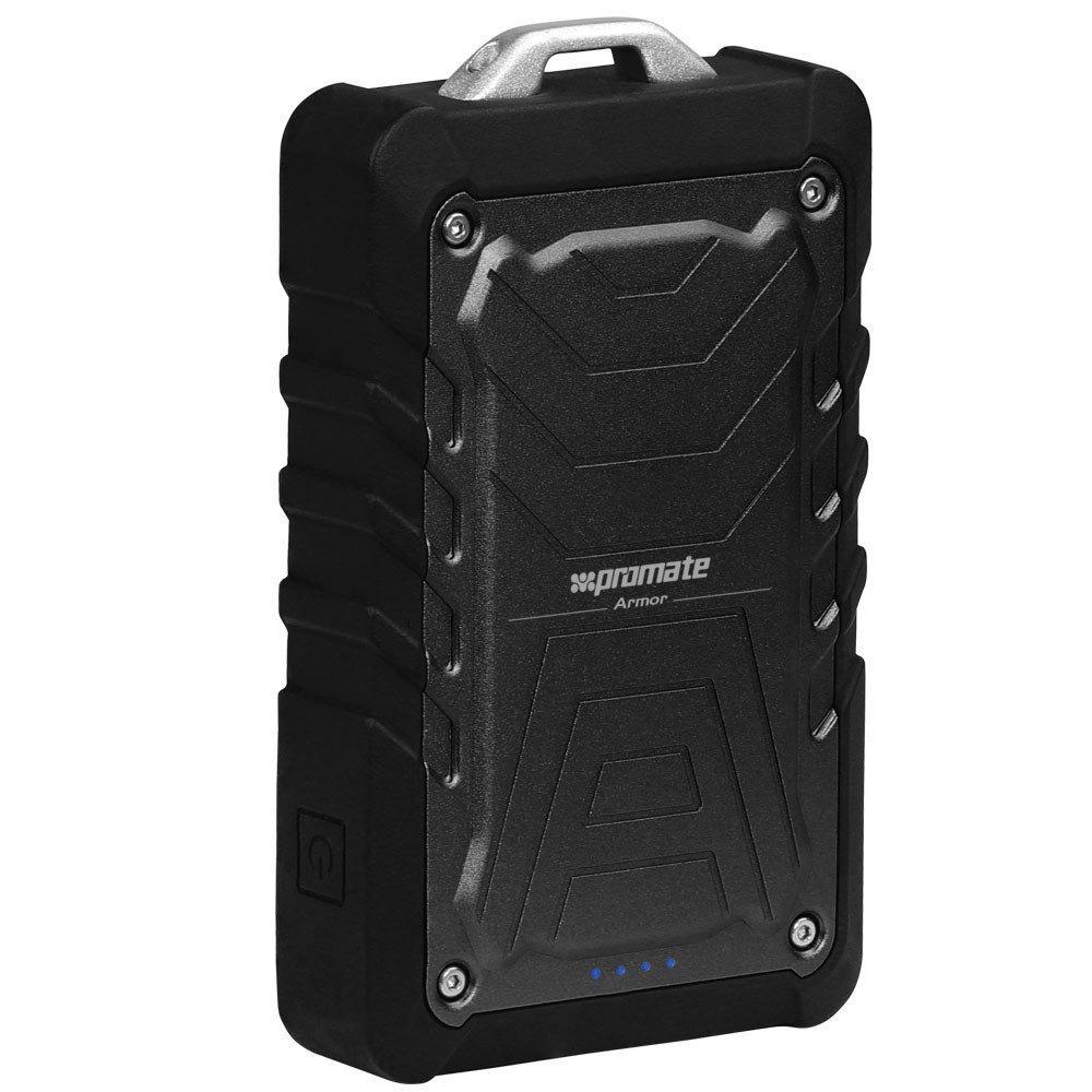 Прочный универсальный портативный аккумулятор Promate Armor Black
