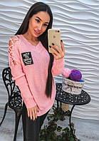 Стильный женский свитер крупная вязка. Код 245.