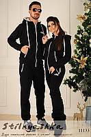 Теплые черные костюмы для пары