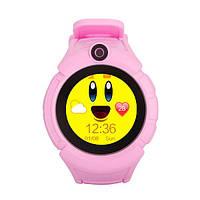 Дитячі годинник з GPS-трекером Smart Baby Watch T10 рожеві c Камерою, фото 1