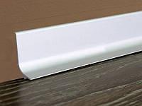 Алюминиевый плинтус самоклеящийся Effector 50 мм Серебро
