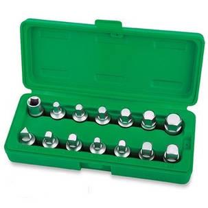 Набор головок для маслосливных пробок 14ед. Toptul JGAI1402, фото 2