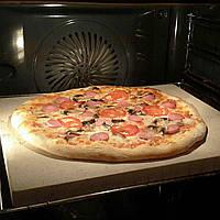 Пекарский камень натуральный для выпечки хлеба и пиццы, 32х37см, (в любых размерах под заказ)