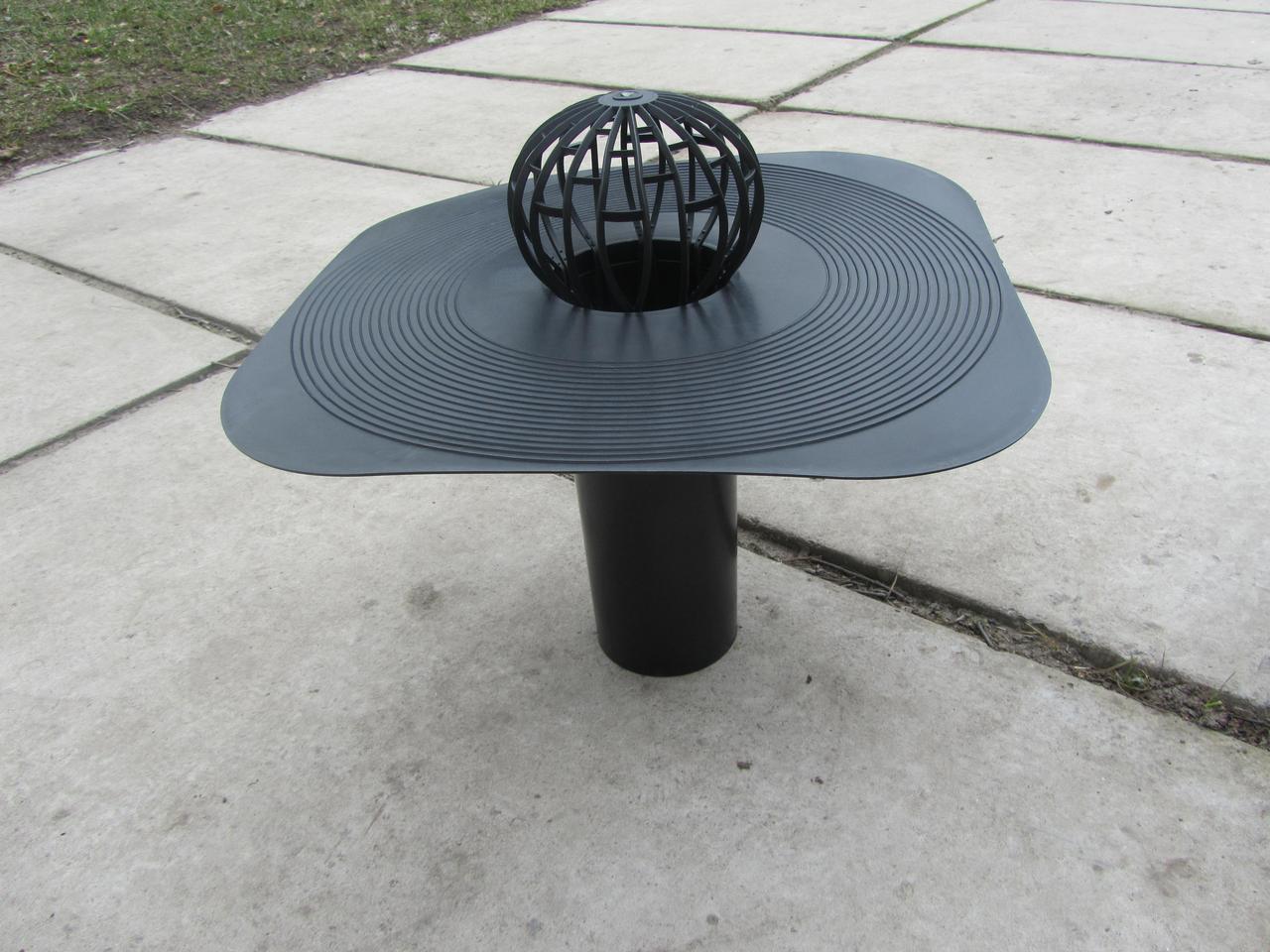 Водоотводная воронка 100мм с воротником Камп (паук)