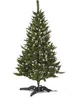 """Искусственная ель """"Рождественская"""" h=1,5 м зеленая с белыми кончиками с ПВХ"""