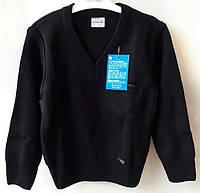 Подростковый теплый свитер на мальчика,состав: 30% шерсти, размеры:10-13 лет, цвет синий