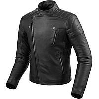Мото куртка косуха Revit Vaughn кожа черная, 46