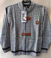 Подростковый теплый свитер на мальчика,состав: акрил, размеры:9-14 лет, цвет серый