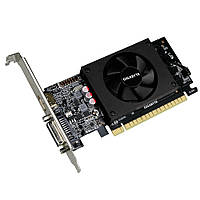 Видеокарта GeForce GT710, Gigabyte, 2Gb DDR5, 64-bit, DVI/HDMI, 954/5010MHz, Low Profile (GV-N710D5-2GL)