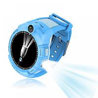 Детские умные часы Q 610S (Q360) с камерой и фонариком, (оригинал) синие!