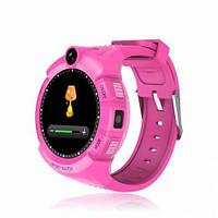 Детские умные часы Q 610S (Q360) с камерой и фонариком, (оригинал)розовые!