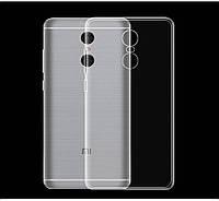 Чехол силиконовый Ультратонкий Epik для Xiaomi Redmi Note 4X Прозрачный, фото 1