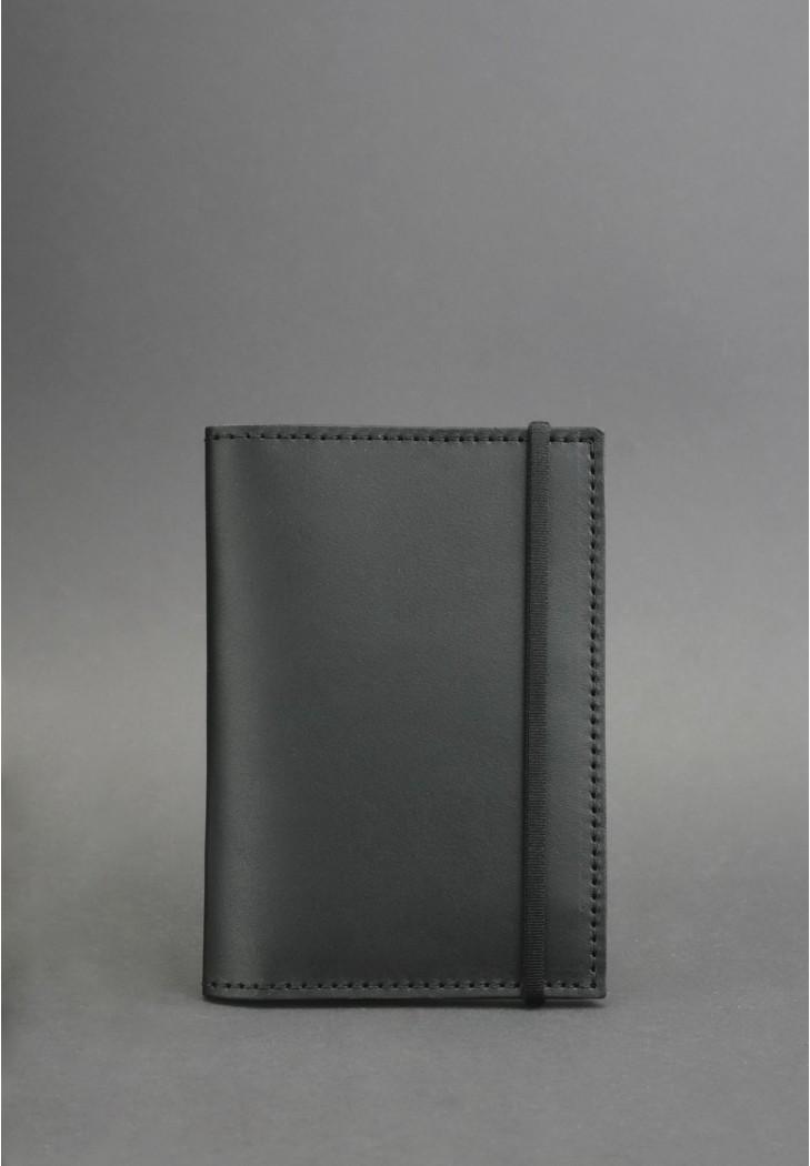 Обкладинка для паспорта. Графіт (шкіра) + блокнотик