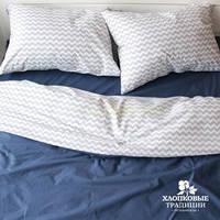 Комплект постельного белья № PF044 поплин Хлопковые Традиции ЕВРО