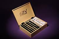 Элитный подарочный набор мужских носков в деревянной коробке на 30 пар. Цвет - ваниль