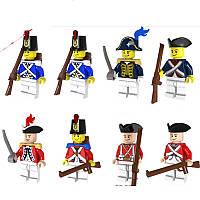 Фигурки военные, Королевская гвардия Англия/Франция, конструктор, фигурки аналог Лего,BrickArms
