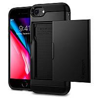 Чехол Spigen для iPhone 8 Slim Armor CS , Black, фото 1