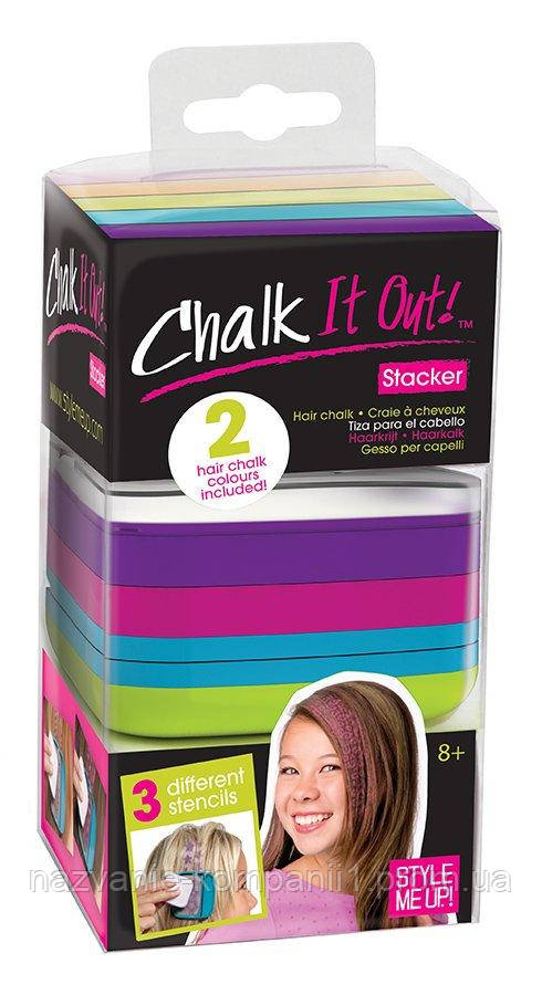 35392a8c38ed4 Набор мелков для волос с трафаретами Wooky (01618) - Интернет магазин