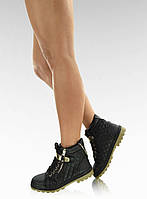 11-09 Черные  женские ботинки SB-B73 36