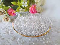 Жемчуг дорогой искусственный, 3 мм, цвет белый, 5 грамм
