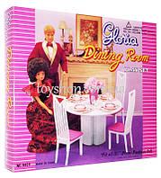 Арт.94011 Мебель для кукол (барби) Gloria Столовая