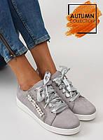 12-11 Серые женские кроссовки 7173 37