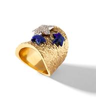 Кольцо Misis Noblesse Oblige Nefertiti золотое с морскими звездочками