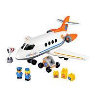 Реактивний самолёт с людьми и грузом, 32 элемента, Ecoiffier (003045)