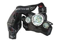 Налобный фонарь Police WX-3000-T6 3 LED 158000 ,налобный фонарь T-6