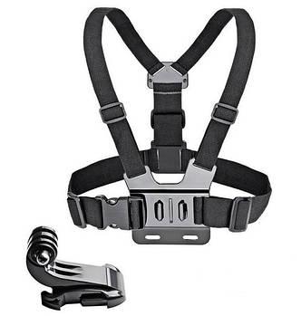 Крепление на грудь Chest Mount Harness для GoPro, Xiaomi, SJCAM + крепление-защелка J-Hook