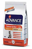Advance (Эдванс) Cat Sensitive Salmon & Rice корм для кошек с чувствительным кишечником (лосось и рис) 15 кг