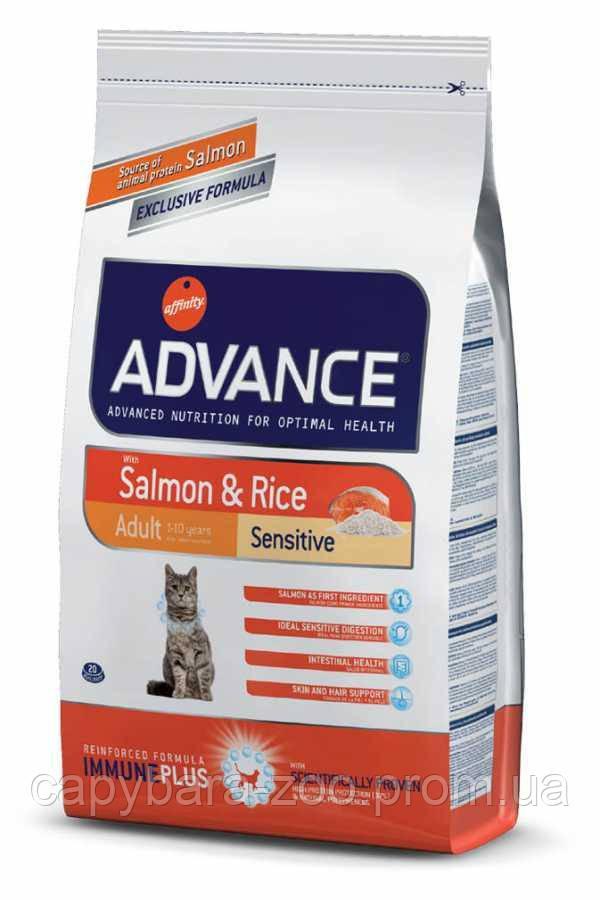 Advance (Эдванс) Cat Sensitive Salmon & Rice корм для кошек с чувствительным кишечником (лосось и рис) 3 кг