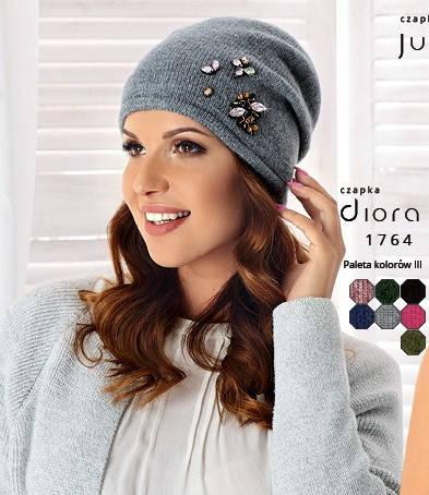 Женская модная шапка Diora от Betina Luxury Польша, фото 2