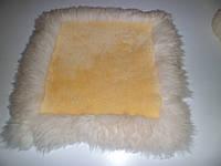 Накидки на кресла, из стриженных овечьих шкур, размер 50 на 50 см