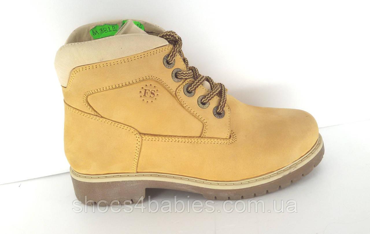 Детские зимние ботинки из натурального нубука р.35 - 22см